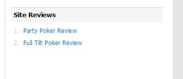 Review Listings Widget Output