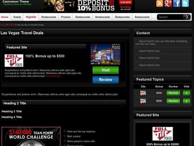 Casinotown WordPress Casino Theme