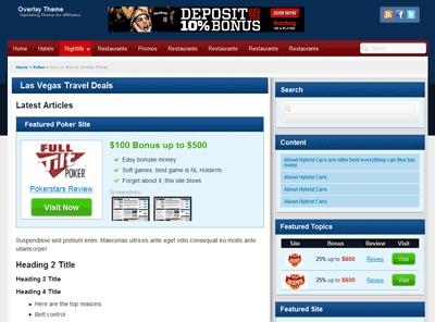 Casino,poker affiliate theme