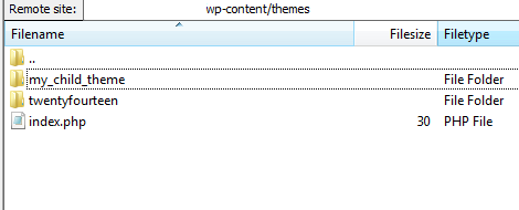 Wordpress Theme Folders