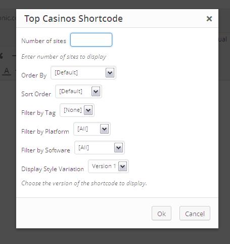 Top Casinos Shortcode