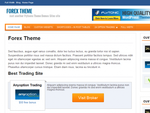 Premium forex wordpress themes