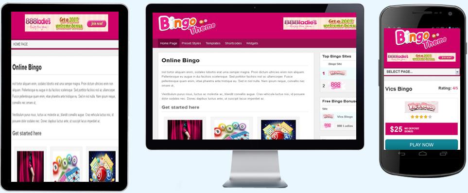 Online Bingo WordPress Theme | Affiliate Template