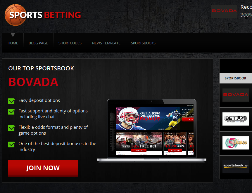 sports betting theme