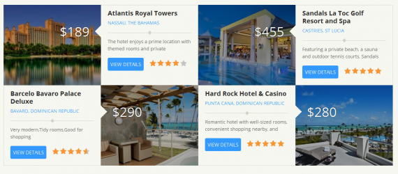 Feature up to 8 hotels