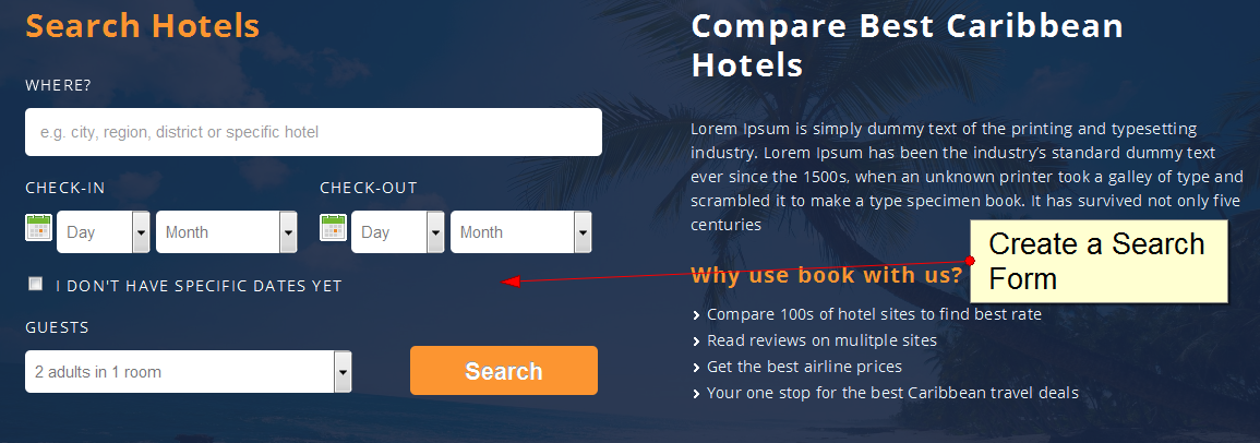 Embed A Hotel Search Form