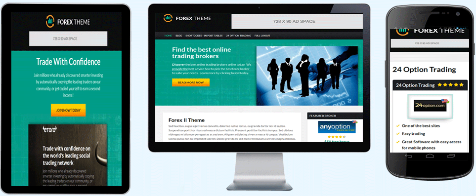 Forex review wordpress theme