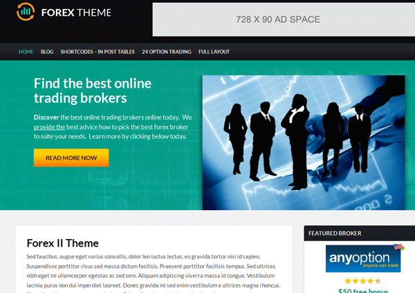Forex trading wordpress theme