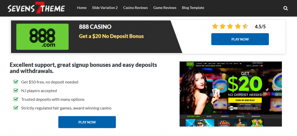 casino review page