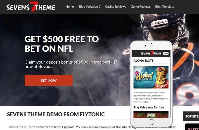 sevens casino affiliate theme
