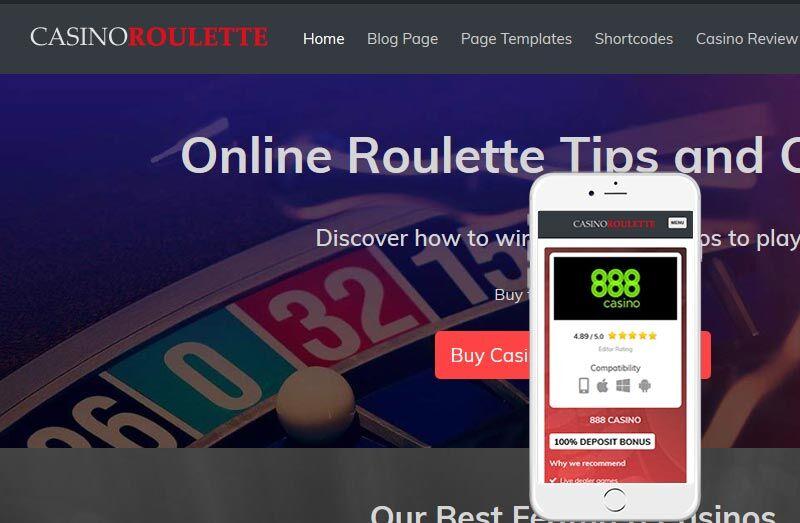 Casino Roulette Affiliate Theme