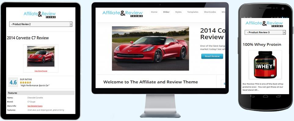Affiliate & Review Theme - gambling themes