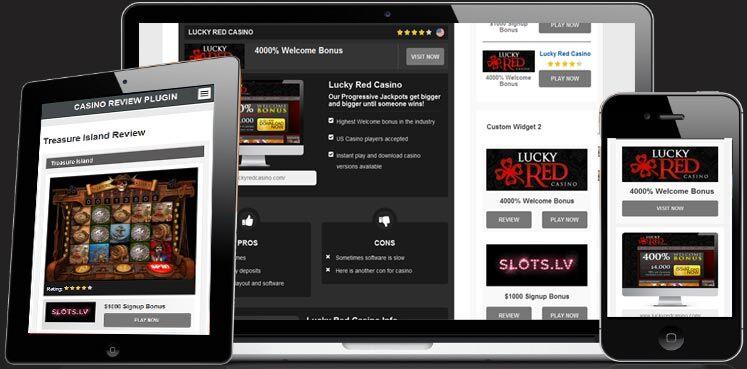 casino affiliate website template