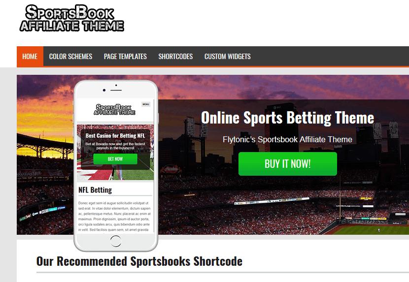 WordPress Sportsbook Affiliate Theme