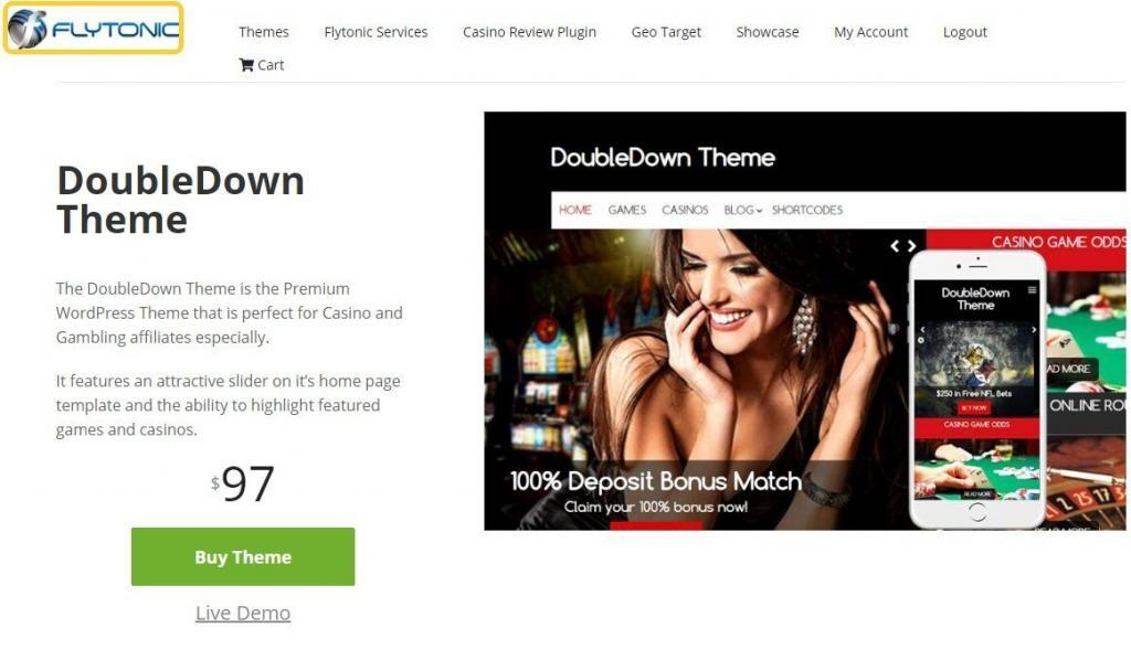 DoubleDown casino theme - one of the best wordpress themes for affiliate marketing