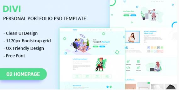 DIVI-Personal-Portfolio-PSD-Template