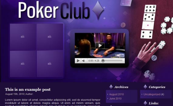 poker theme for wordpress