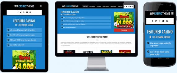 wordpress casino theme