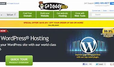 GoDaddy- wordpress hosting price comparison