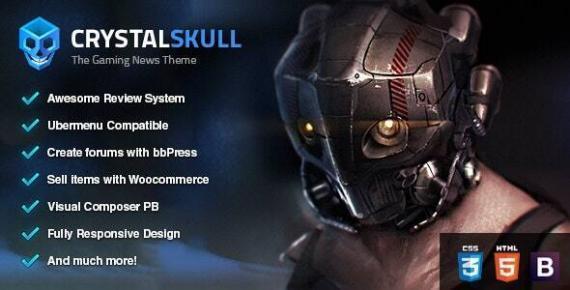 Gaming WordPress themes - Crystal Skull - The Gaming News Theme