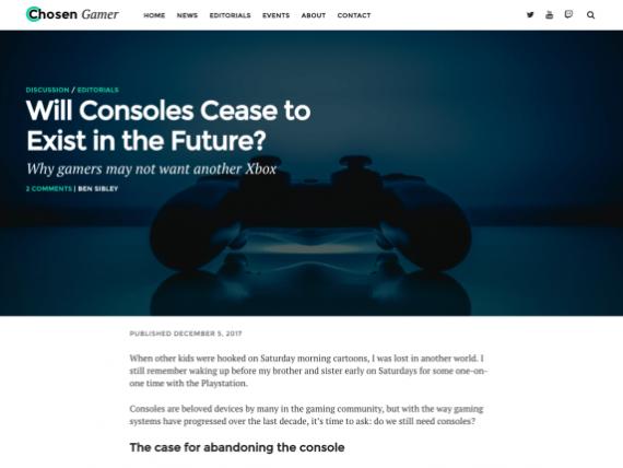 Wordpress games theme - Chosen Gamer