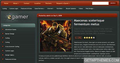 Wordpress games theme - e-Gamer