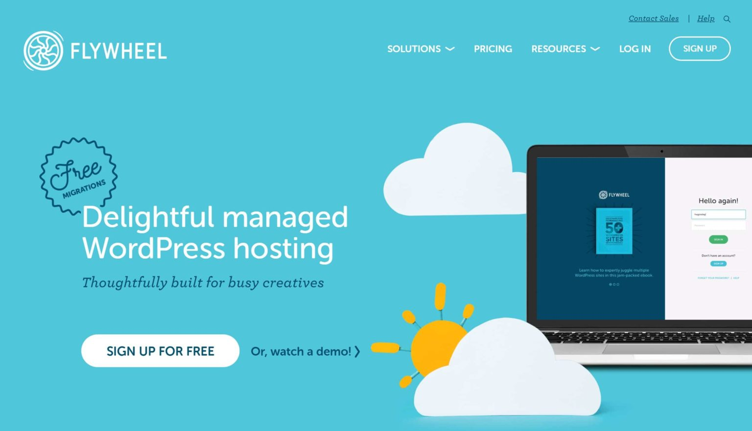 flywheel is one of the fastest managed hosting for WordPress sites