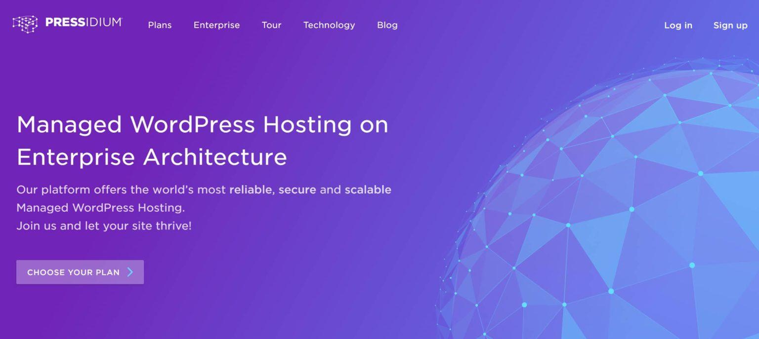 Pressidium is a fast wordpress web hosting