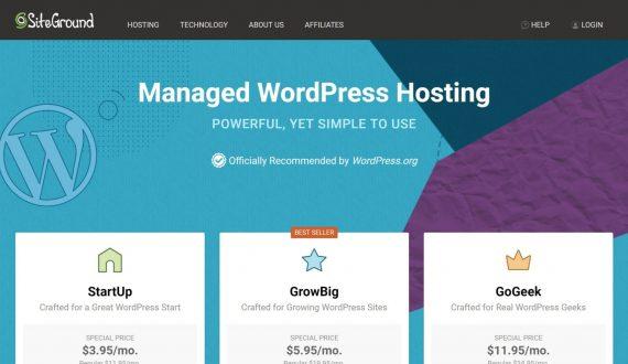 siteground - cheap managed wordpress hosting service