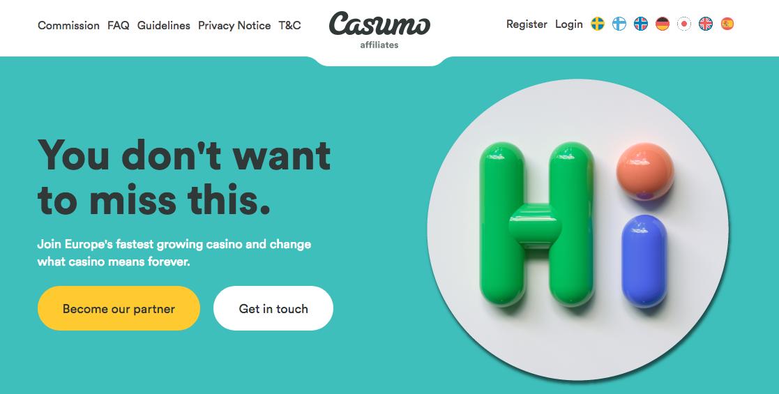 CASUMO AFFILIATES - Casino Affiliate Programs in India