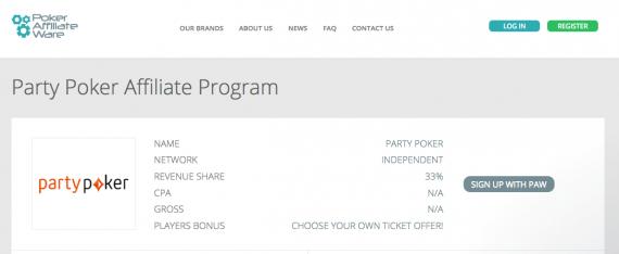 Party Poker Affiliate Program