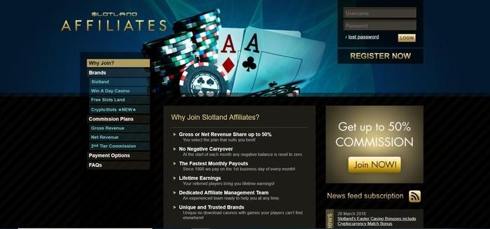 Slotland-Affiliates-Affiliate-Program - Gambling affiliate programs